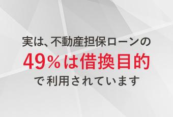 実は、不動産担保ローンの49%は借換目的で利用されています。